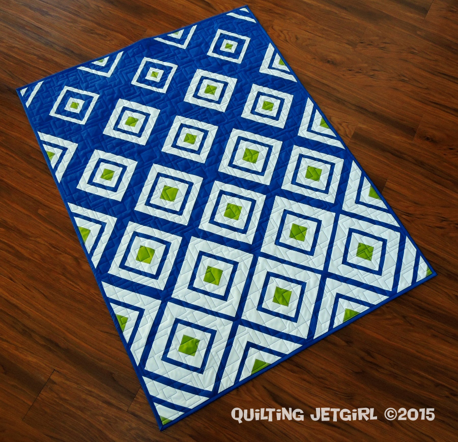 Diamonds in the Deep {Friday Finish} Quilting Jetgirl
