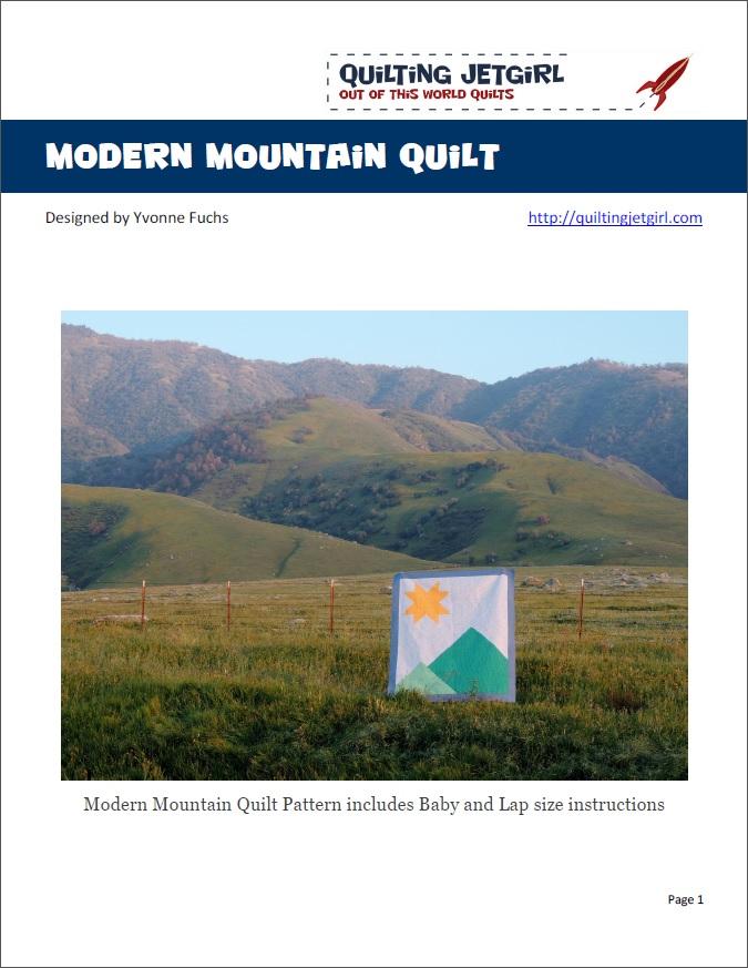 Modern Mountain Quilt Pattern
