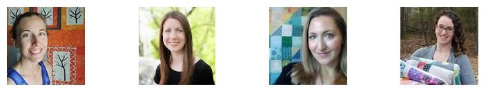 2015 New Quilt Bloggers Blog Hop Hosts (L-R): Yvonne @Quilting Jetgirl, Cheryl @Meadow Mist Designs, Stephanie @Late Night Quilter, Terri Ann @Childlike Fascination