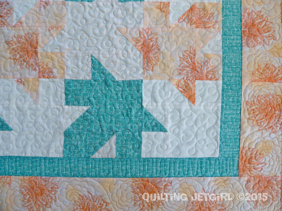 Collaborative Baby Quilt II - Quilting Detail