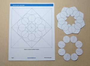 Using the Snowflake Shimmer Quilting Template - Step 1