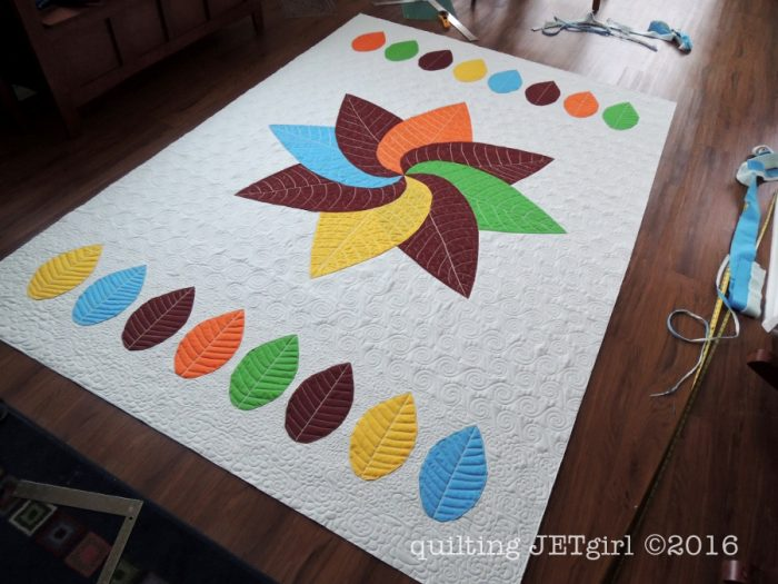 Trimmed Cocoa Leaf Quilt