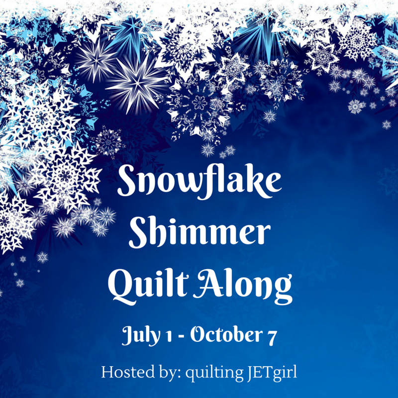 Snowflake Shimmer Quilt Along Hosted by Quilting Jetgirl