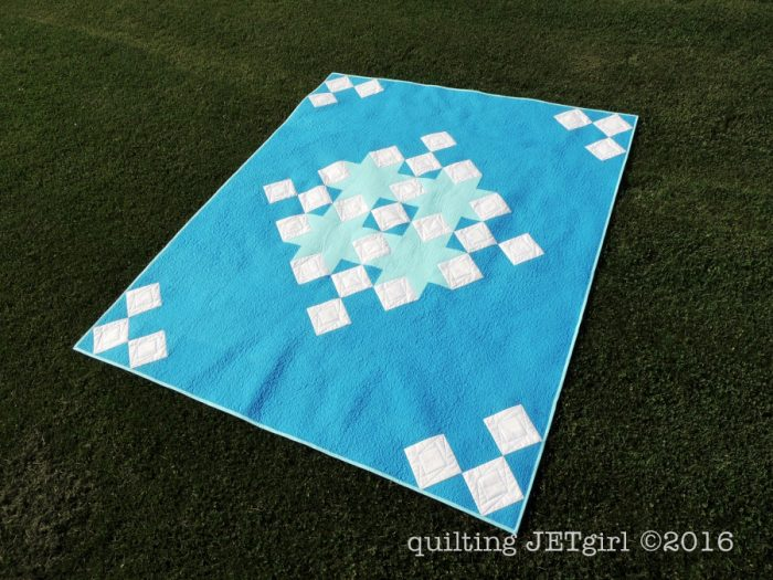 Snowflake Shimmer in Blue - Finished Quilt!!